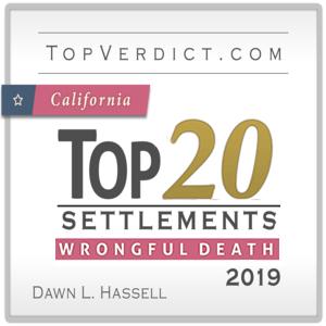 Top 20 Wrongful Death Settlements CA 2019 Award