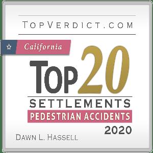 Top 20 Pedestrian Accident Settlement Award California 2020