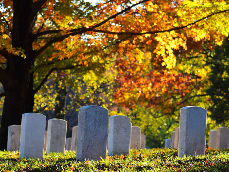 San Francisco Wrongful Death Attorneys. Picture of tombstones in San Francisco graveyard.